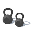 Cartoon Kettlebells vector image vector image