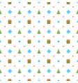 christmas seamless pattern with christmas tree vector image vector image