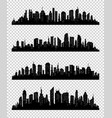 city silhouette collection with black color on vector image