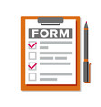 claim form business document accident vector image