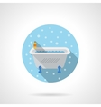 Classic bath round flat color icon vector image vector image