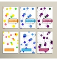 colorful abstract molecule on a white background vector image