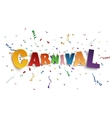 Colorful handmade typeface carnival vector image vector image