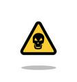 danger sign skull sign on a white background vector image