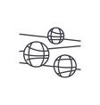 disco balls line icon concept disco balls vector image vector image