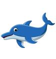 dolphin cartoon for you design vector image