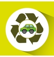 eco car icon environment recycle symbol vector image