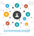 entrepreneurship trendy web concept with icons vector image vector image