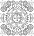 Ethnic floral and Paisley doodle background vector image vector image