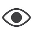 eye glyph icon web and mobile lens sign vector image vector image