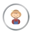 Farmer cartoon icon for web and vector image