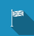 flag of great britain on flagpole uk flag sign vector image vector image