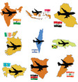 fly me to the India Indonesia Iraq Ireland Israel vector image