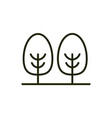 forest trees environment ecology line and fill vector image