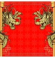frame red dragon gold-colored sticker 4 vector image