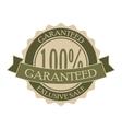 Garanteed vintage green round tag vector image