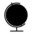 globe icon black color flat style simple image vector image vector image