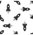 grey rocket ship with fire icon isolated seamless vector image vector image