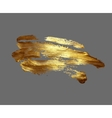 hand drawing gold brush stroke paint spot on a vector image vector image