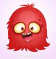 Happy Halloween cartoon red monster vector image vector image