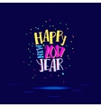 Happy new year with super bright colors vector image