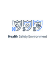 hse concept health safety environment vector image