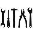 industrial tools kit - spanner screwdriver vector image vector image