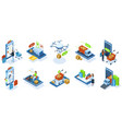 isometric online shopping e-shop purchasing vector image vector image