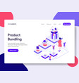 landing page template of product bundling vector image vector image