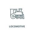 locomotive line icon linear concept vector image vector image