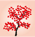 love tree isolated on white background vector image vector image