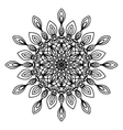 Mandala coloring page doodle vector image vector image