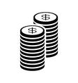 Money con stack vector image vector image