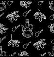 olive oil patternolive branch ector vector image vector image