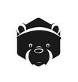 panda logo cute kind character in cartoon style vector image vector image