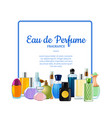 perfume bottles with place for text vector image vector image