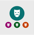 sad mask icon simple vector image vector image