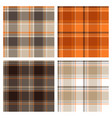 seamless brown checked patterns vector image