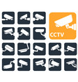 security camera icons video surveillance vector image vector image