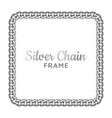 silver chain square border frame vector image