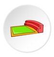 Small square stadium icon cartoon style vector image vector image