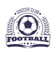 soccer club or football team league vector image vector image