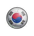 south korean flag football - soccer ball vector image vector image