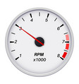 tachometer car dashboard white gauge white vector image vector image
