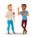 talking men laughing friends office vector image