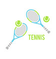 tennis balls and racquet vector image