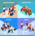 travel people 2x2 design concept vector image vector image