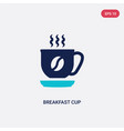 two color breakfast cup icon from bistro and vector image vector image