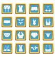 underwear icons set sapphirine square vector image vector image