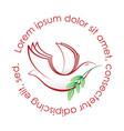 white dove emblem vector image